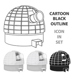 observatory icon in cartoon style isolated on vector image