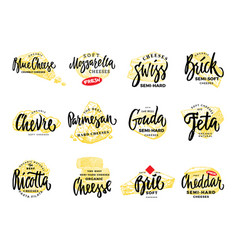 Organic food logos set vector
