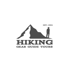 Outdoor hiking travel badge label Tourism vector