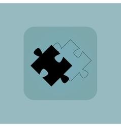 Pale blue puzzle place icon vector
