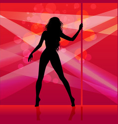Pole dancer girl vector