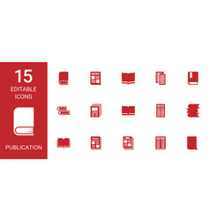 Publication icons vector
