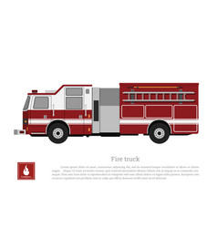 red fire truck in a flat style vector image