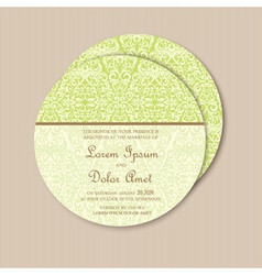 Round green vintage card vector