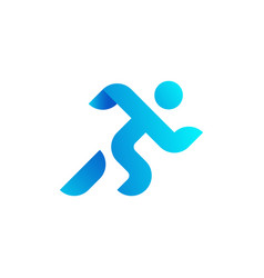 running man athletics marathon summer sport vector image