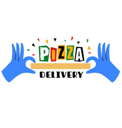 Safe pizza delivery vector