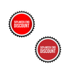 sale tag badge template 50 off sale label image vector image