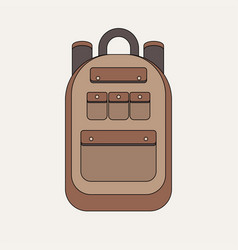 school backpack isolated on white background vector image