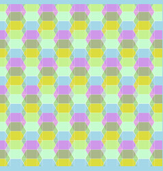 Seamless geometric pastel pattern vector