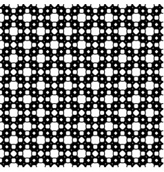 seamless pattern black white geometric ornament vector image