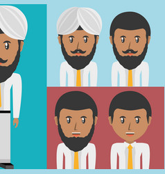 set avatars men of different diversity vector image
