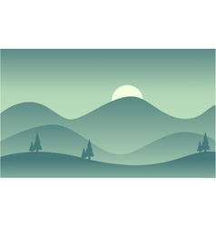 Silhouette of mountain flat vector