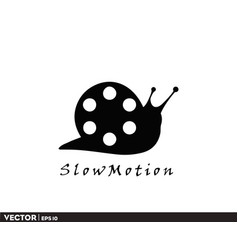 slow-motion logo vector image