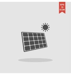 Solar energy panel Modern design flat style vector image