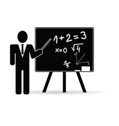 teacher with school board vector image