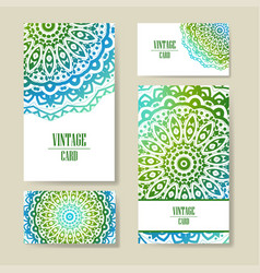 Template business card geometric vector