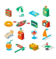 Travel Tourism and Journey objects vector image