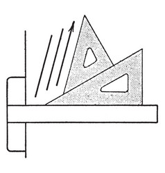 Triangle set up for 75 degrees placed them vector