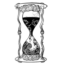 Water sandglass vector image