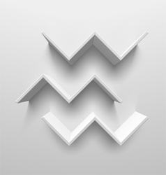 White birds shelves vector image