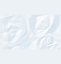 White crumpled paper texture empty background vector