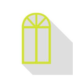 window simple sign pear icon with flat style vector image