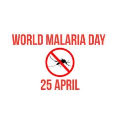World malaria day style concept vector