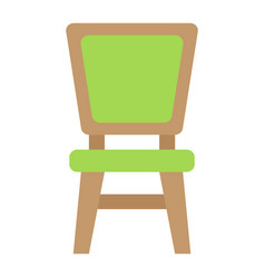 Chair flat icon furniture and interior vector