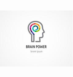 creative colorful logo human head mind brain vector image vector image