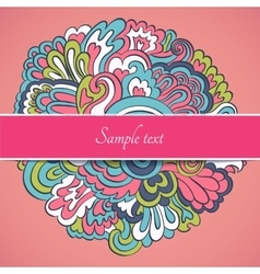 Floral Frame Collection cute retro flowers cards vector image vector image