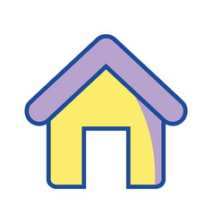 house object with roof and door vector image vector image