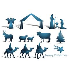 nativity scene elements vector image