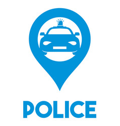 police sign vector image vector image