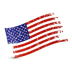 American Flag - Dirty Grunge Isolated on White vector image vector image