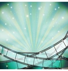 film background retro blue vector image vector image