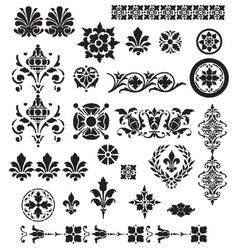 Floral Decorative set vector image