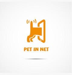 pet in net vector image