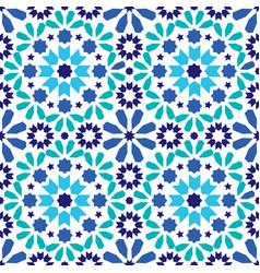geometric seamless pattern moroccan tiles design vector image vector image