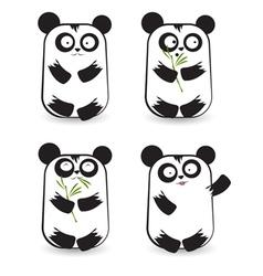 Pandas 2 vector image