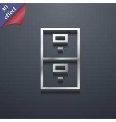 Safe icon symbol 3D style Trendy modern design vector image vector image