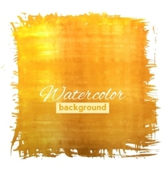 Square orange watercolour banner vector image vector image