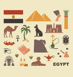 traditional symbols of egypt vector image