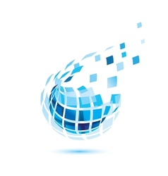 abstract globe icon business and comunication vector image vector image