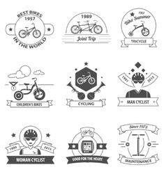 Bicycle Label Set vector image
