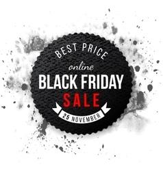 Black friday sale 2015 emblem vector image