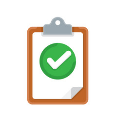 clipboard and check marks vector image