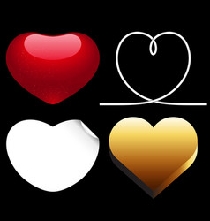 differences style red heart icon vector image vector image