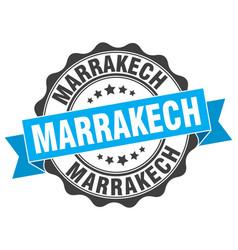 marrakech round ribbon seal vector image vector image