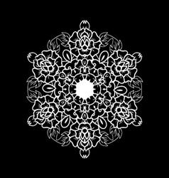 Oriental black and white mandala vector image
