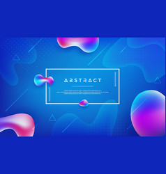 abstract modern trendy liquid color background vector image